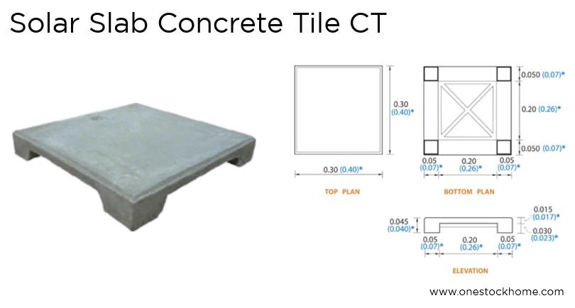 Concrete Tile Solar Slab