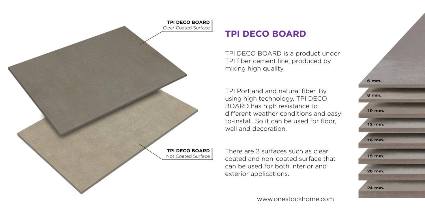 TPI Decoration Fibercement Board description